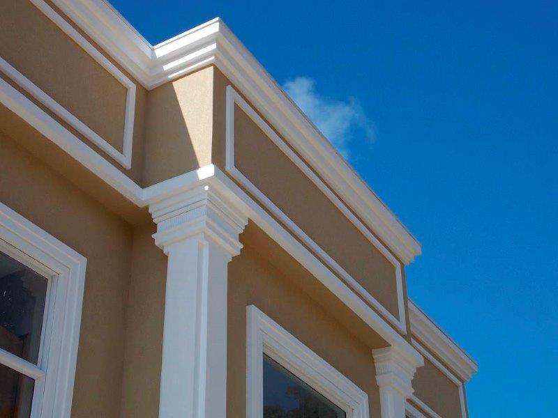 Moldura eps fachada