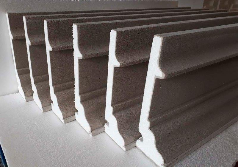 Moldura de isopor para fachadas externas