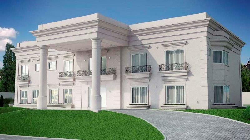 Molduras eps fachada casas