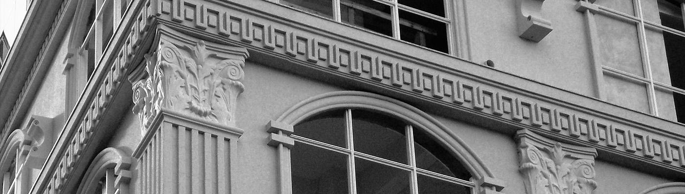Moldura de isopor para fachada